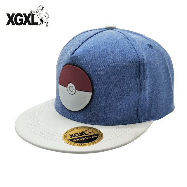 XGXL 2017 New brand Hot cartoon Pokemon cap embroidered hip-hop wizard ball  pokemon hat baseball cap wholesale deus cap gorra a3472811a71b