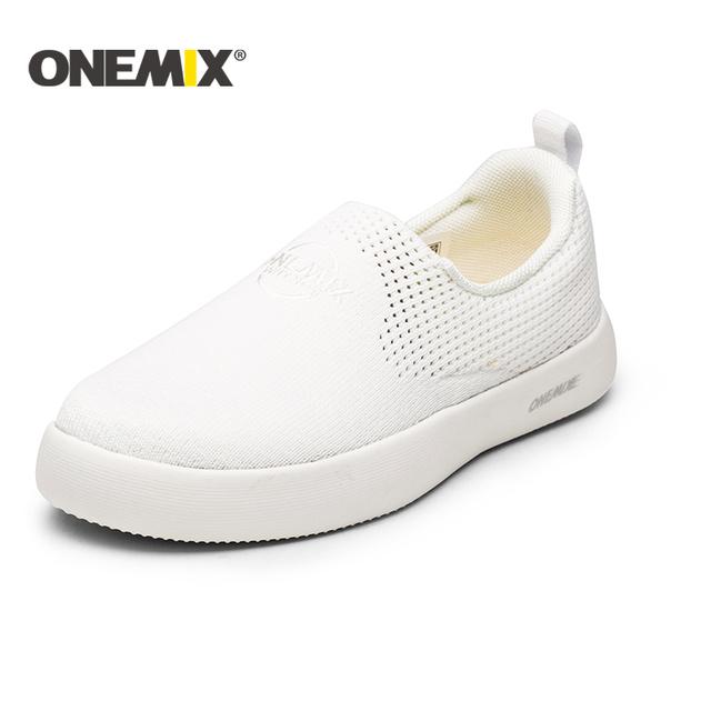ONEMIX 2018 new men's shoes  light trekking shoes women soft deodorant insoleall-match outdoor walking men Skateboarding Shoes