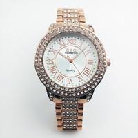 2014 G D Full Diamond Watches Gold Women S Apparel Dress Qaurzt Christmas Gift Boxes Free