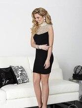 Sexy Shop High Neck Perlen Short Prom Kleider Online Modische Mädchen Königsblau Vestidos Para Festa Partei Abendkleid 2015