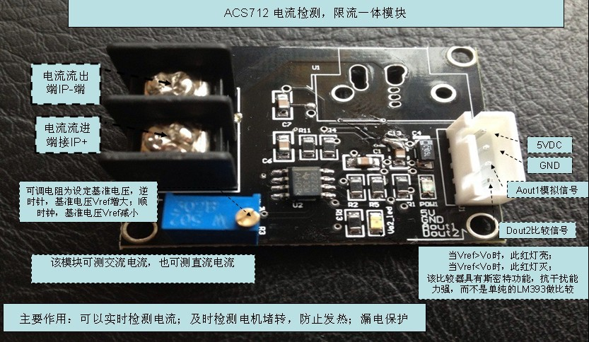 ACS712E-20 Current Sensor Module Current Detection, Limited Flow One