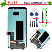 100 Test Black For Samsung Galaxy S8 S8 Plus G950 G955 LCD Display Touch Screen Digitizer