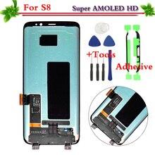 100% Uji Hitam untuk Samsung Galaksi S8 S8 Plus G950 G955 LCD Tampilan Sentuh Layar Digitizer Assembly Penggantian