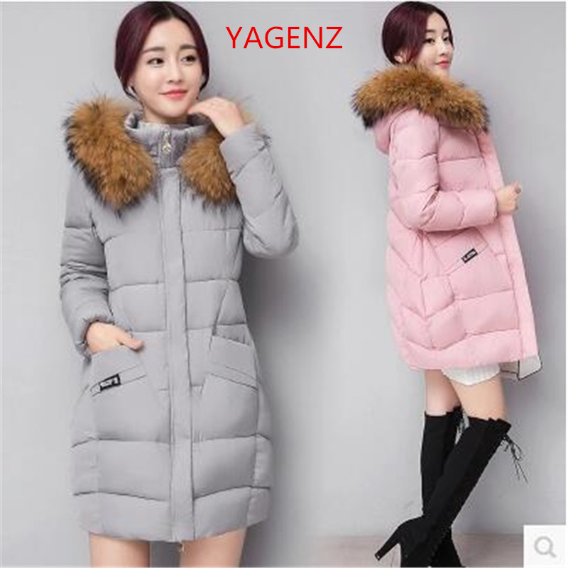 Winter coats for young women Large size Heavy hair collar Winter ...
