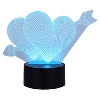 USB Aangedreven 7 Kleuren Verbazingwekkende Optische Illusie 3D Glow LED Lamp gratis verzending