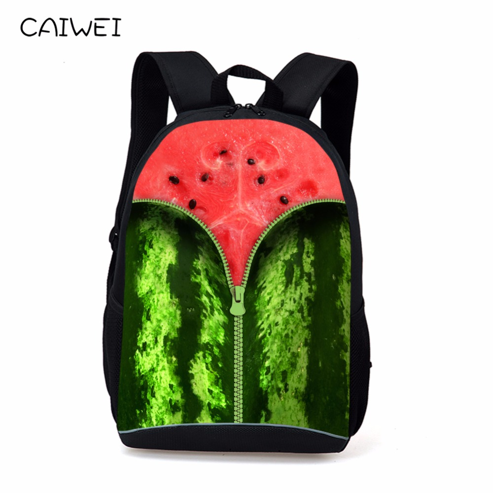 Fashion 16 inch Print Laptop Backpack Fruit Style Women Travel Backbag Cool Teenagers Girls School Bag College Rucksack Mochila