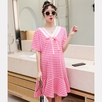 2019 new pregnancy dress summer fashion Korean version of the loose spring and autumn pregnant women dress pregnancy skirt