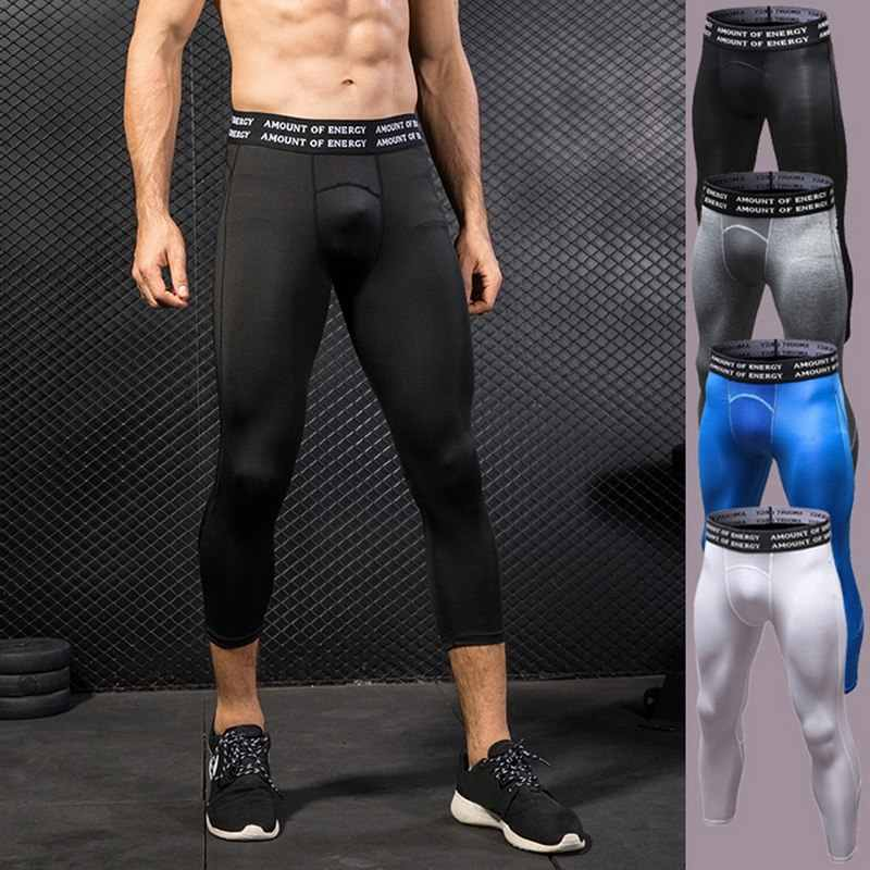 3d0a9bd13a Detail Feedback Questions about SHUJINMen Compression Pants Bodybuilding  Joggers Fitness Quick Dry Skinny Leggings Mens Workout Tights Trousers 2018  on ...