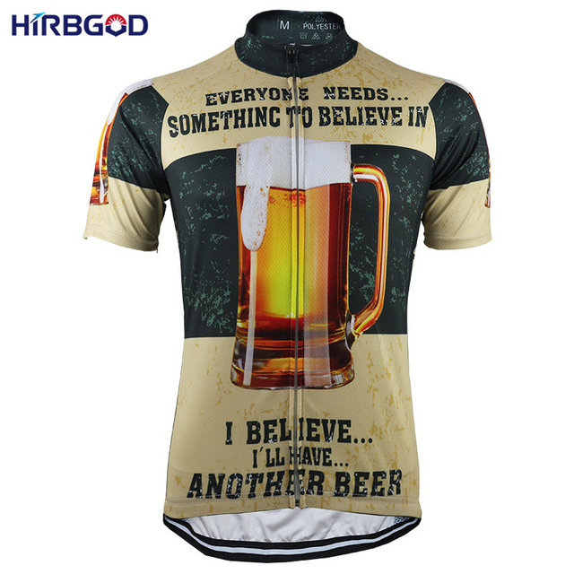 HIRBGOD Beer 3 Styles Men Mountain Bike Jersey Summer Short Sleeve Breathable Sportswear MTB Dh Bike Clothes Ropa Ciclismo,NR165