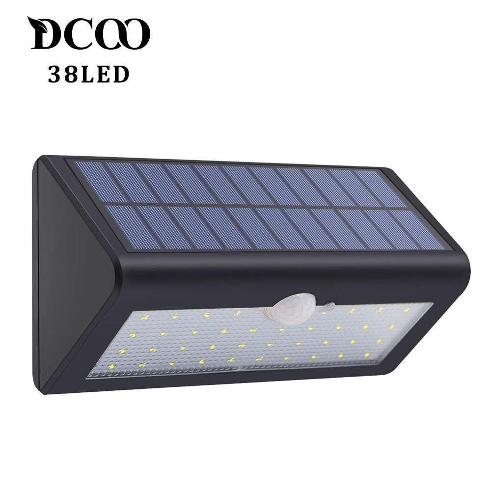 Dcoo Solar Lights 38LEDs Lights Bright Wireless Motion Sensor Garden Decoration Solar Light Outdoor Lamp Solaire Tuinverlichting