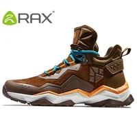 RAX Men's Waterproof Hiking Anti slip Trekking Multi terrian Mountaineer Shoes for Winter Breathable Warming of Genuine Leather