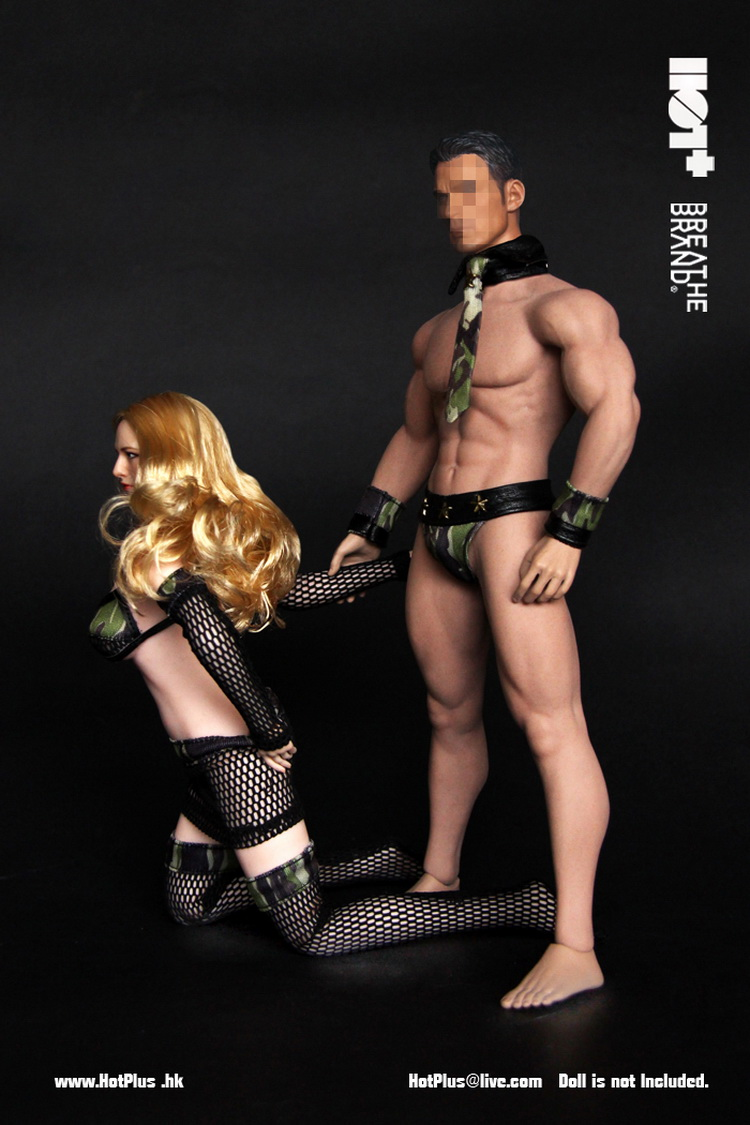 1/6 Scale Figure Doll Clothes Male And Female Lovers Sexy Uniform 12