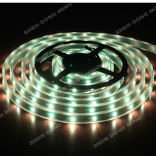 15M Tube Waterproof IP67 DC5V white or Black PCB 30leds individually addressable RGB IC Built-in WS2812 led strip pixel