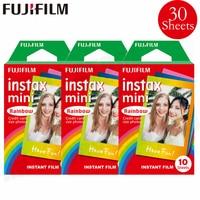 Genuine Fujifilm Instax Mini 8 9 Film Rainbow Fuji Instant Photo Paper 30 Sheets For 70 7s 50s 50i 90 25 Share SP 1 LOMO Cameras