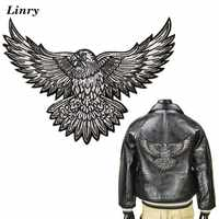 Eagle Embroidered Iron on Patches for Clothes DIY Jacket Jeans Sweater Sewing Stickers Punk Cool Appliques Decoration Accessory