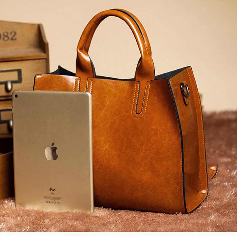 150e02b68e03 ... Leather Handbags Big Women Bag High Quality Casual Female Bags Trunk  Tote Crossbody Shoulder Bag Ladies ...
