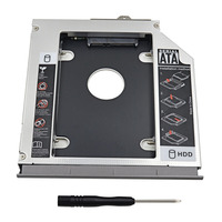 Gabinete de disco Rígido SATA 2nd HDD Caddy 12.7 milímetros Caixa de Alumínio 3.0 2.5