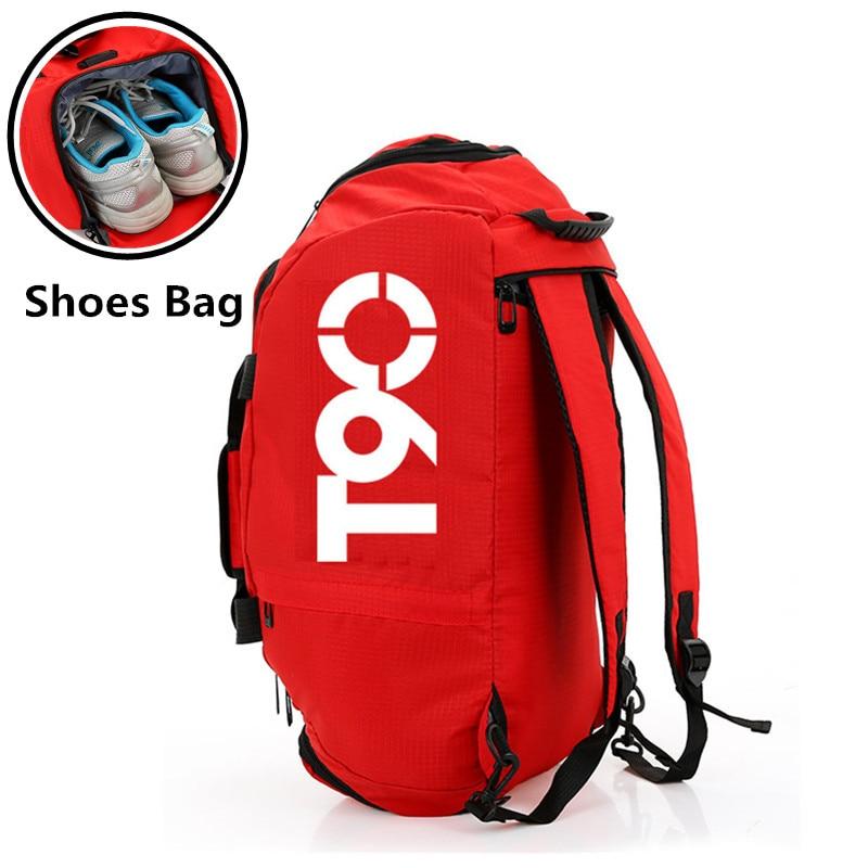 Multifunction Backpack Waterproof Gym Bag Separate Space for Shoes Men Women Fitness Durable Handbag Training Travel