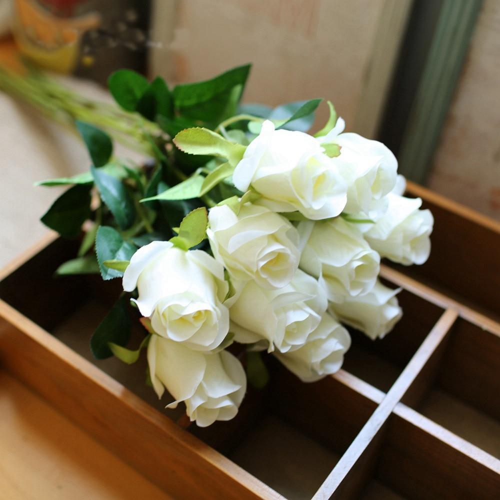 6 Colours 1pc Beautiful Silk Flower Artificial Rose Fake Flower