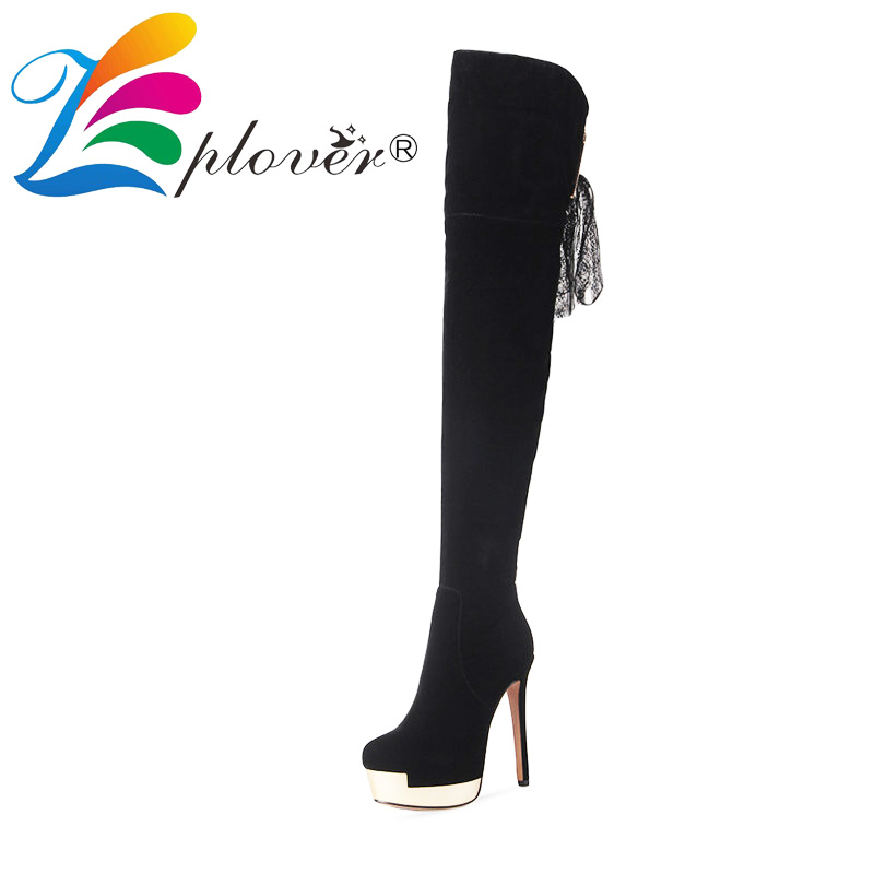 zplover winter shoes woman over the knee boots platform leather thigh high fur shoes winter boots women lace botas zapatos mujer avvvxbw 2016 brand women boots winter over the knee boots shoes woman sexy high heeled thigh high boots botas femininas c323
