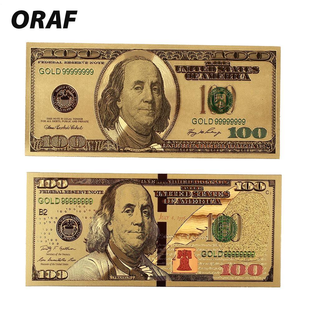10 dollar american paper money 24k 999.9 gold foil gold banknote normal money