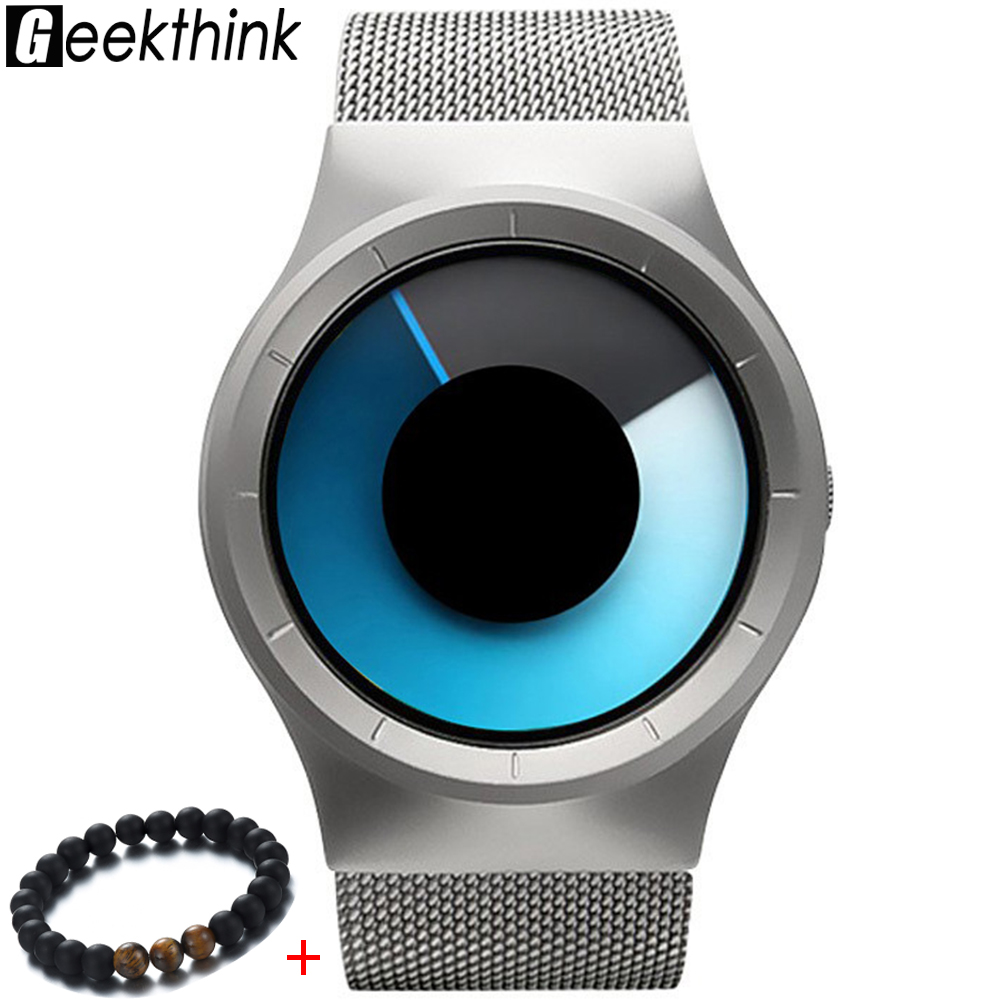 GEEKTHINK New Quartz Watch Women Mens Watches Top Brand Fashion Luxury Stainless Steel Watches Mesh Belt Rotary Dial WristwatchGEEKTHINK New Quartz Watch Women Mens Watches Top Brand Fashion Luxury Stainless Steel Watches Mesh Belt Rotary Dial Wristwatch