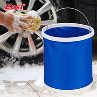 East Folding Bucket Portable Camping Fishing Folding Water Bucket in The Car Fishing Mop bucket Washing Cleaning Tools