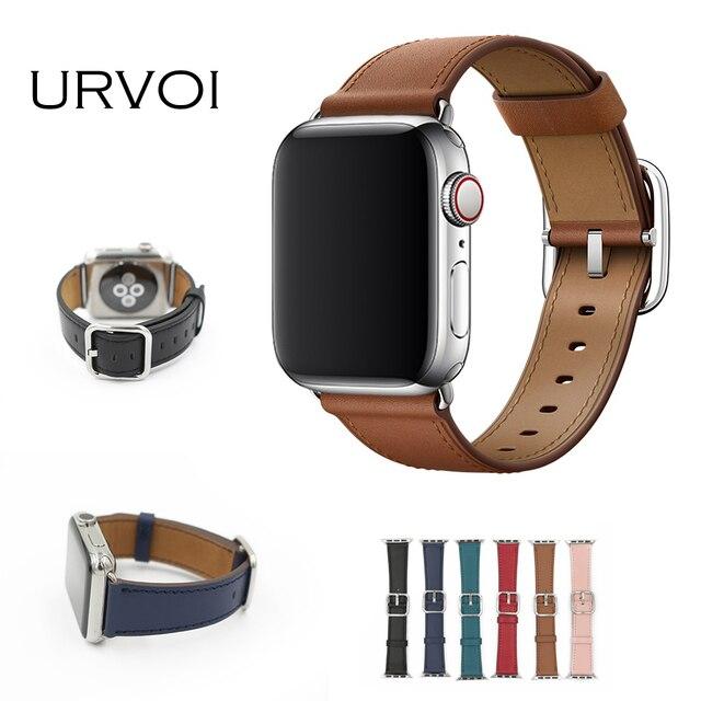 URVOI banda de hebilla clásica para apple watch series 4 3 2 1 correa para iwatch piel de becerro con hebilla cuadrada moderna diseño GEN.2