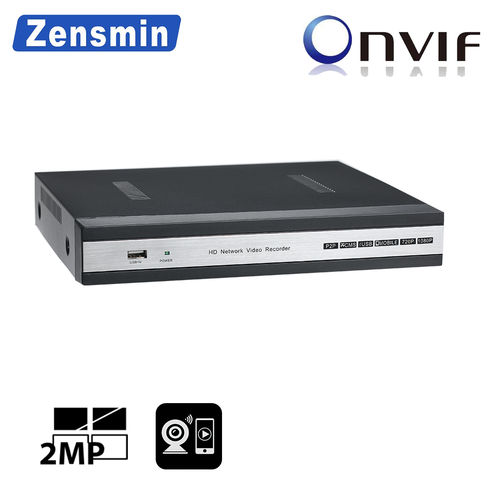 Zensmin H.265 XMeye FULL HD 8ch IP PoE NVR 2.0MP 5.0MP en temps réel p2p 48 v VGA HDMI Onvif 1 SATA 6 tb HDD sécurité cctv ipc enregistreur
