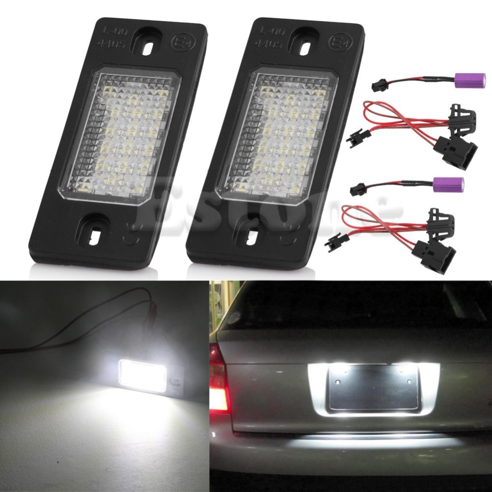 1 Pair Number License Plate LED Light Lamp Signal Lamp Car-styling For Porsche Cayenne VW Touareg liandlee for alfa romeo 156 159 166 147 led car license plate light number frame lamp high quality led lights