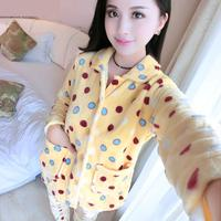 2017 New Arrival Noenname Null Character Full Turn Down Collar Spring Full Length Pajama Sets