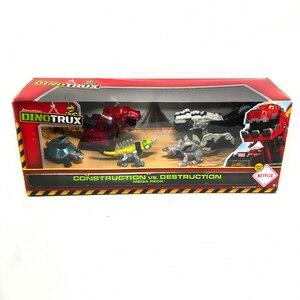 Грузовик-динозавр съемный динозавр игрушечный автомобиль для Dinotrux мини модели Новые детские подарки игрушки динозавр модели мини-игрушки ...