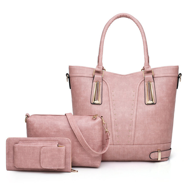 7724bbaab Sacos Mulheres Marcas Famosas de Moda 2018 Conjuntos 3 Multifunction Simples  Moda Sólidos Bolsas De Luxo