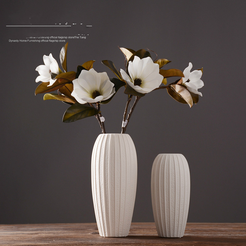 White Ceramic Vase Ornaments Modern Minimalist Decor Home Furnishing Vase For Wedding Decoration