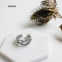 XIAGAO 925 Sterling Silver Open Ring For Women Multi Twist Retro Rings Punk Style Bijoux Femme CNR220