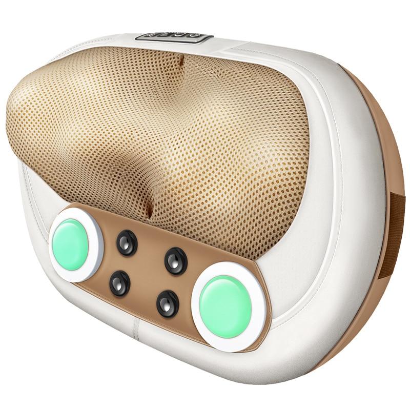 Elettrico Cervicale Massaggio Alleviare Il Collo Spalla Dolore Della Vita Corpo Corpo Cuscino di Massaggio Shiatsu Cuscino di Massaggio Elettrico A Infrarossi