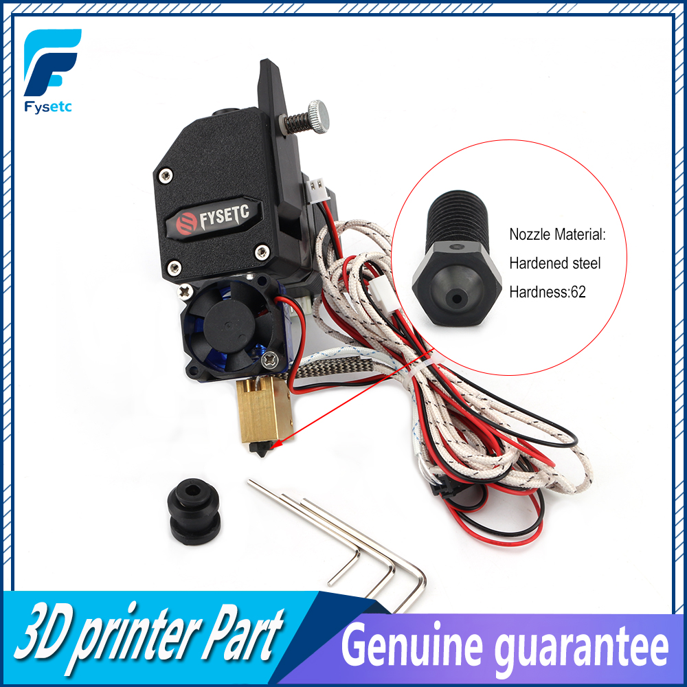 Black BMG Extruder Bowden Dual Drive Extruder With PT100 Sensor Harden Nozzle For Wanhao D9 Creality