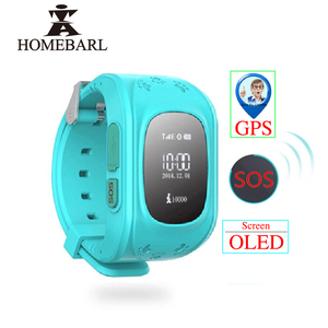 Image 1 - Anti Perso Q50 LCD OLED Bambino LBS GPS Tracker SOS Posizionamento di Monitoraggio Scherza Il Telefono SIM Smartwatch Intelligente Orologio Per IOS android