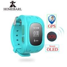 Reloj inteligente Q50 con pantalla LCD OLED para niños, dispositivo con GPS, LBS, SOS, SIM, IOS y Android