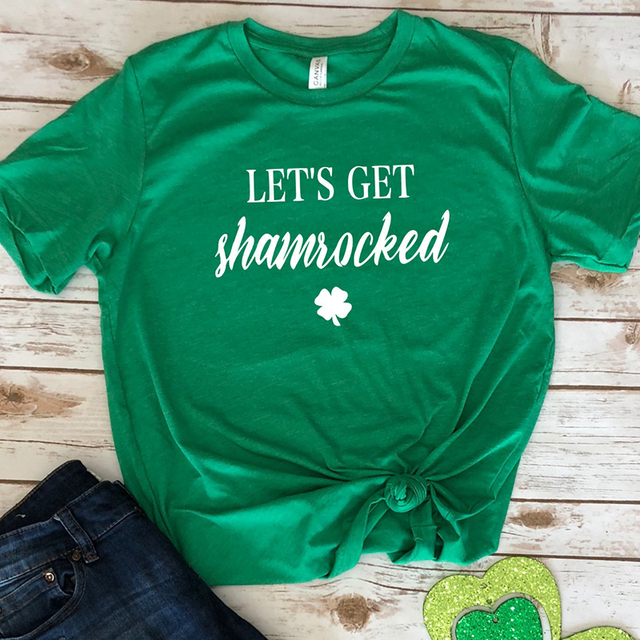 8ddabfe22 women tshirt irish plus size womens shamrock shirt St patricks day tshirts  graphic t print clothing 2019 girls fashion