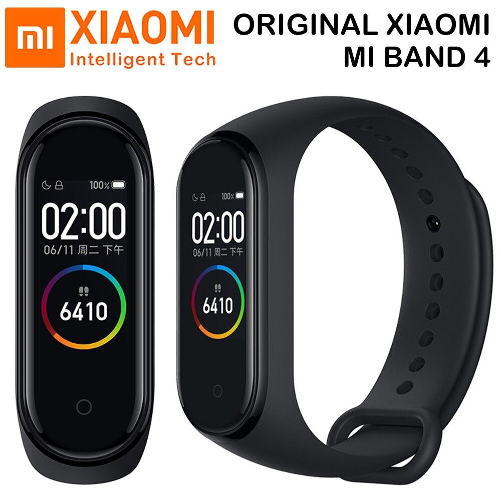 Original 2019 I Più Nuovi Xiao mi mi fascia 4 Braccialetto frequenza Cardiaca Fitness Di Colore dello Schermo Di Bluetooth 5.0 Smart mi Fascia 3 per IOS Android