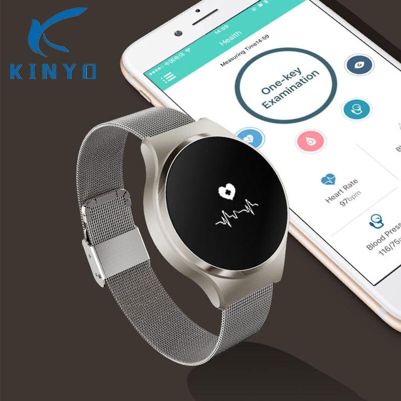 Kinyo Smart Wristband Smart Band Blood Pressure Heart Rate Watch Waterproof Pedometer Touchpad Fitness Tracker Bracelet Pk Mi 2 цена
