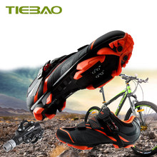 TIEBAO mountain bike shoes 2019 men women bicycle riding shoes sapatilha ciclismo mtb spd pedals self-locking breathable shoes(China)