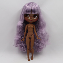 Factory Neo Blythe Doll Elegant Purple Hair Jointed Body 30cm