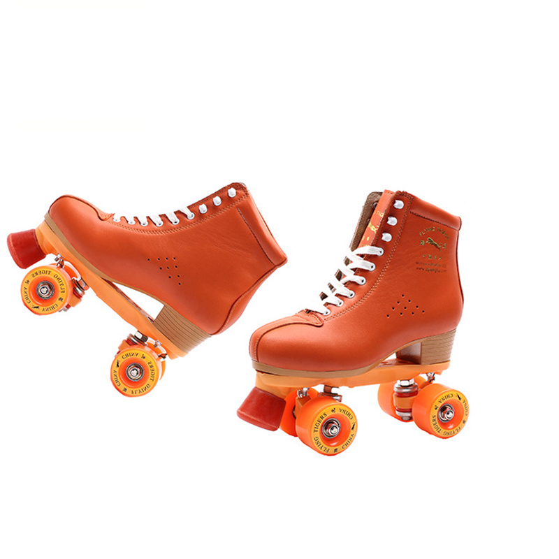 Children Adult Parenting Unisex Two Line Roller Skating Shoes Double Row Skates Kids 4 PU Wheels High Grade Genuin Leather IB55 children adult parenting two line roller shoes skating 4 wheels double row skates patins kids pu wheels adjustable unisex ib42