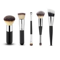 5Pcs Makeup Brush Set Cosmetics Makeup Brushes Professional Cosmetic Foundation Powder Eye Shadow Oval Brush Blusher