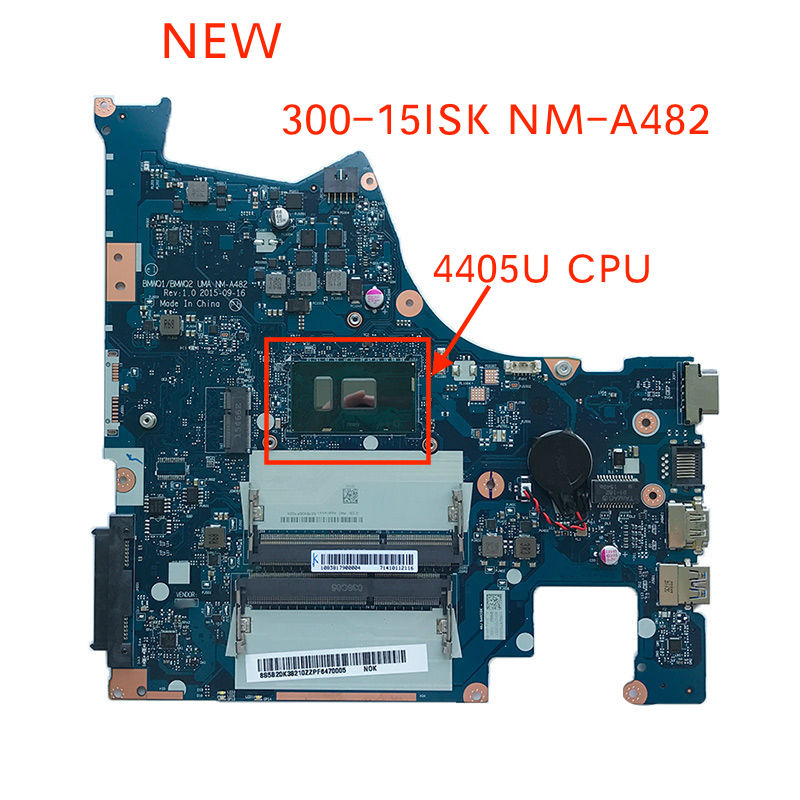 Free shipping tested New FOR Lenovo Ideapad 300-15isk BMWQ1 BMWQ2 NM-A482 notebook motherboard mother board with  4405U CPUFree shipping tested New FOR Lenovo Ideapad 300-15isk BMWQ1 BMWQ2 NM-A482 notebook motherboard mother board with  4405U CPU