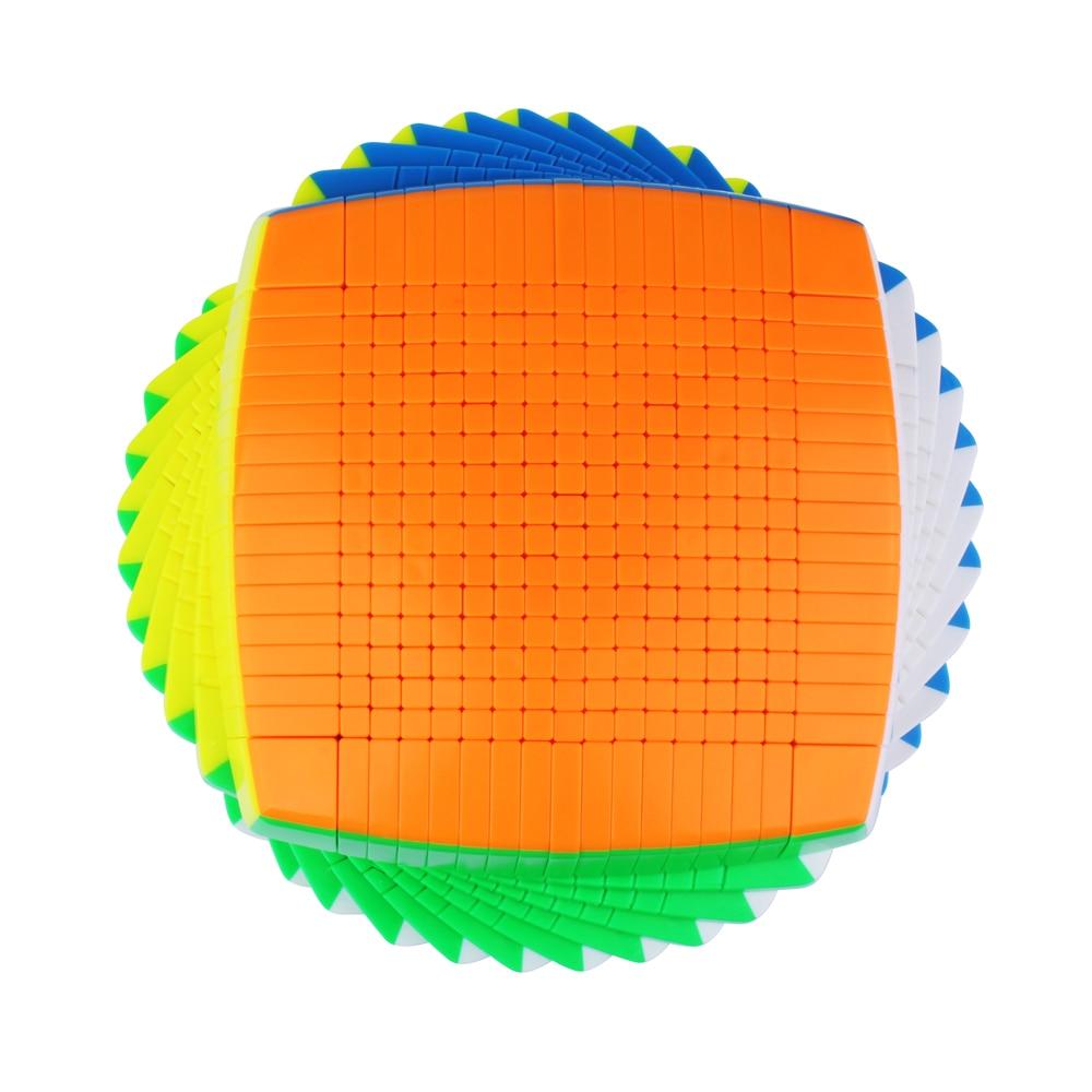 Yuxin Huanglong 17x17x17 Cube Stickerless Zhisheng SpeedCube Puzzle di Torsione di 17x17 Cubo Magico yuxin huanglong 17