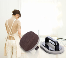 Kitchen with Handle Emery Decontamination Descaling Sponge Rust Cleaning Brush Home Tools
