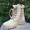American special forces tactical boots leather combat boots military combat boots and desert authentic combat boots B157